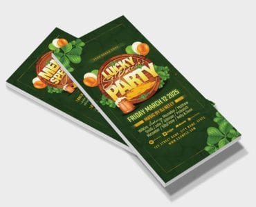 St. Patrick's Day Party Flyer Template (DL Card)