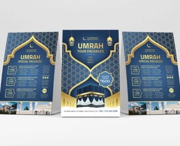 Umrah Flyer Template (Table Tent)