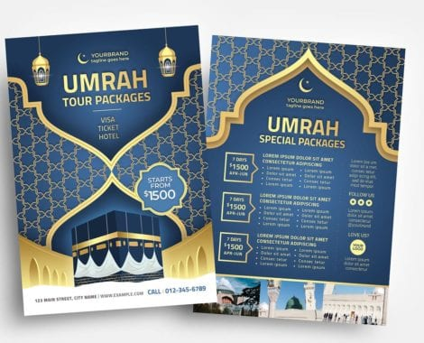 Umrah Flyer Template (PSD, Ai & Vector)
