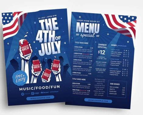 4th July Party Flyer Template