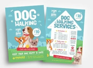Dog Walking Flyer Templates in PSD & Vector