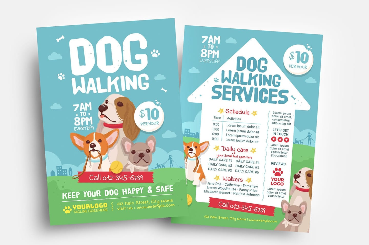 Dog Walking Template from brandpacks.com