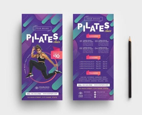 Pilates Gym DL Card Template