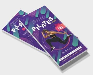 Pilates Gym DL Card Template