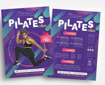 Pilates Gym Flyer Template