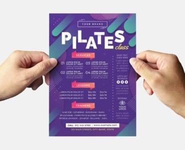 Pilates Gym Flyer Template