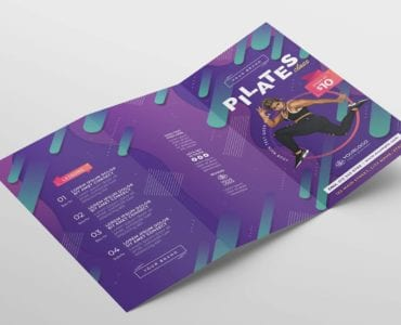 Pilates Gym Trifold Brochure Template