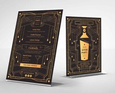 Art Deco Cocktail Bar Flyer Template
