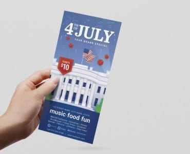 Fourth July DL Rack Card Template