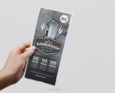 Barber Shop DL Flyer Template