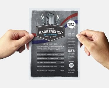 Barber Shop Flyer Template (Back)