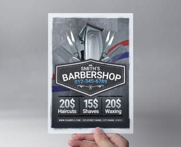 Barber Shop Flyer Template (Front)