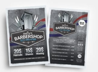 Barber Shop Flyer Templates