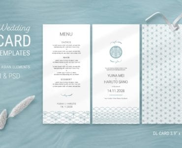 Elegant Wedding DL Card Flyer Stationery