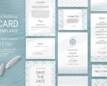 Elegant Wedding Stationery by AsianElements