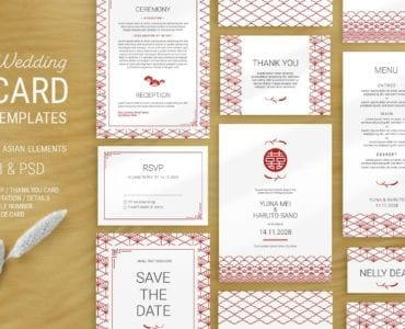 Elegant Wedding Stationery Orange