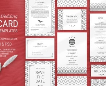 Elegant Wedding Stationery Red