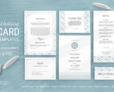 Elegant Wedding Stationery Templates