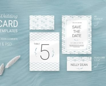 Elegant Wedding Stationery Flyer Templates