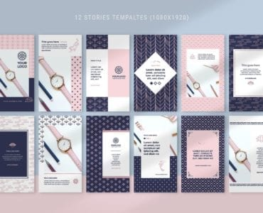 Elements Social Media Templates for Photoshop & Illustrator
