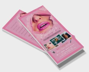 Makeup Artist DL Card Template