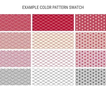 Asian Pattern Swatches for Illustrator
