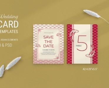 Asian Wedding Card Template
