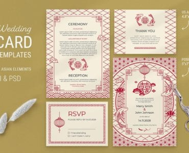 Asian Wedding Flyer / Invite Template