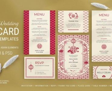 Asian Wedding Templates in PSD & Vector