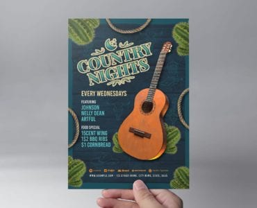 Country Nights Flyer Template (Front)