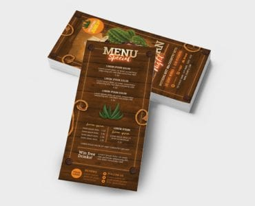 Country & Western Party DL Flyer Template (Back)