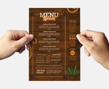 Country & Western Party Flyer Template (Back)