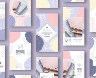 Abstract Pastel Social Media Story Templates