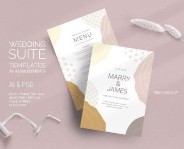 Champagne Pastel Wedding Flyer / Invitation Templates