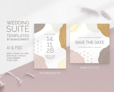 Champagne Pastel Wedding Save The Date Template