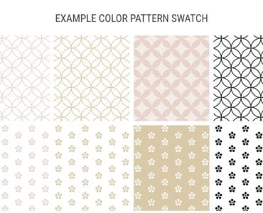 Champagne Pastel Wedding Template Swatches