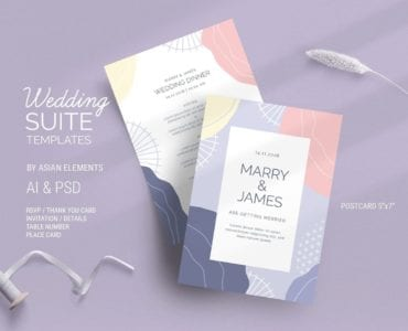 Abstract Pastel Wedding Flyer / Invitation Template