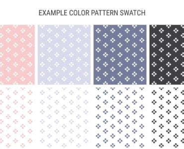 Abstract Pastel Wedding Swatches
