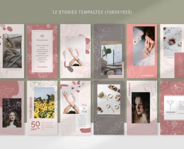 Floral Social Media Story Templates