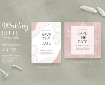 Floral Wedding Save the Date Templates