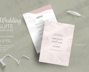 Floral Wedding Suite Flyer / Invitation Template