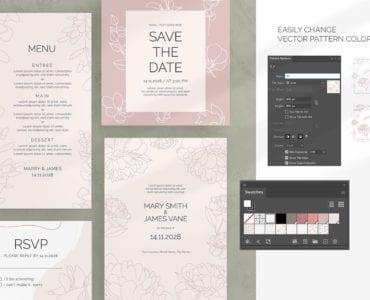 Floral Wedding Suite Mockups