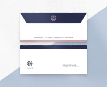 Navy & Pink Envelope Stationery Template