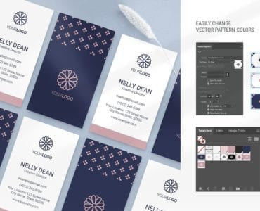 Navy & Pink Templates in PSD & Vector