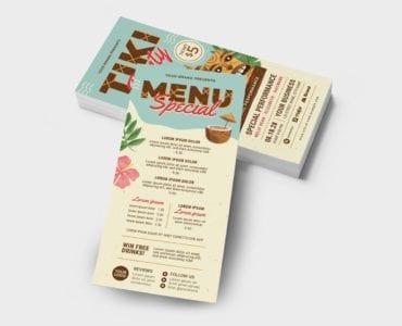 Tiki Party DL Card / Flyer Back