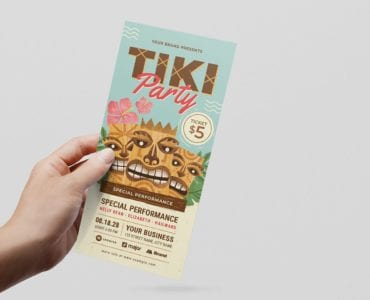 Tiki Party DL Flyer Template