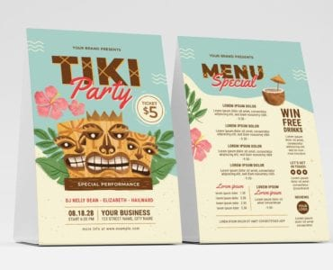 Tiki Party Flyer / Table Tent