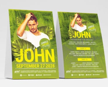 Jungle Party DJ Flyer Template
