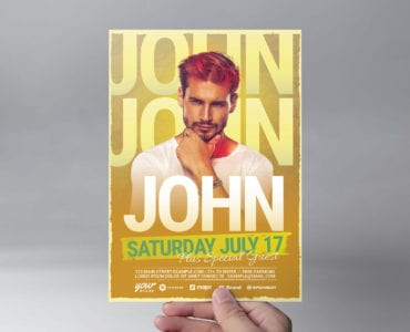 Yellow Gold DJ Flyer Template (front)