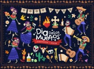 Dia De Los Muertos Vector Illustrations